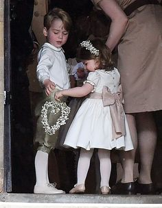 Pippa Middleton's Wedding in Photos - Prince George and Princess Charlotte from InStyle.com