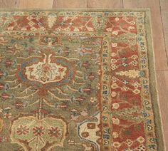 Pottery Barn Millie Floral Multi Rug 5x8 5 X 8 Wool Sealed