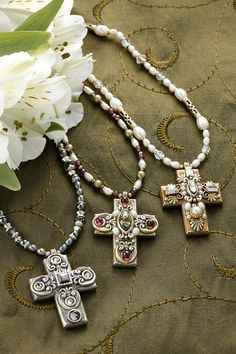 Medium Gemstone Cross Necklace-Choice of 3 Bead Colors - Celebrate Faith Dainty Diamond Necklace, Diamond Cross Necklaces, Love Necklace, Star Necklace, Jewelry Tags, Ruby Jewelry, Star Jewelry, Cross Jewelry, Boho