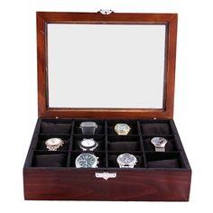 Caixa para Relógios 12 Divisórias e Fecho
