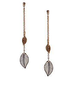 ASOS Feather Drop Earrings