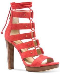 Michael Michael Kors Sofia Lace-Up Gladiator Sandals - Brown 7M
