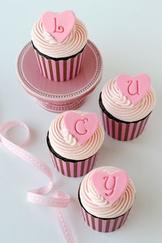 Sweet Baby Cupcakes (with easy fondant toppers)  made by @Glorious Treats