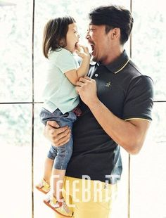 """Father daughter duo Choo Sung Hoon and Sarang of 'Superman is Back' for """"The Celebrity"""" Magazine Superman Cast, Song Il Gook, Song Triplets, Ufc Fight Night, Sung Hoon, Ufc Fighters, Korean Entertainment, Kpop, Reality Tv Shows"""