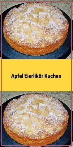 Zutaten: 4 Äpfel 4 Ei(er) 180 g Zucker 180 g Butter zimmerwarme 180 g Mehl 1 Pck. Backpulver 1 Prise(n) Salz 50 g Kokosraspel 1 Zitrone(n) der Saft davon 5 EL Eierlikör 50 g Mandel(n) gestiftelte Zubereitung: Den Backofen auf 175°C Ober-/Unterhitze vorheizen. Äpfel schälen entkernen und dann klein schneiden. Jeder so wie er es mag. Damit die Apfelstücke nicht braun werden mit Zitronensaft beträufeln. Die zimmerwarme Butter und den Zucker in eine Rührschüssel geben und gut verquirlen. E..