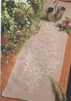 Filet Crochet Chart for Table Runner Filet Crochet Charts, Crochet Motif, Crochet Patterns, Crochet Stitch, Lace Doilies, Crochet Doilies, Crochet Flowers, Crochet Table Runner, Crochet Tablecloth
