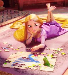Puzzles and darts and baking - Tangled