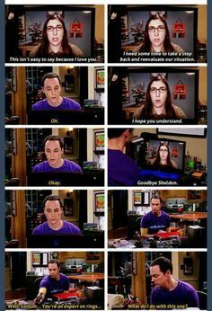 The feels... The big bang Theory season 8 finale heart wrencher.
