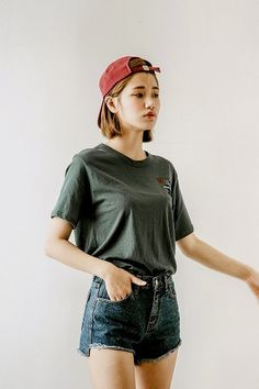 Blue Ribbon Cotton Tee | Korean Fashion