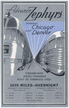 Advance Zephyrs, between Chicago and Denver