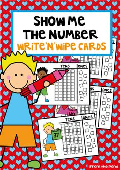 Show Me the Number Place Value Write n Wipe