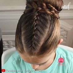 Try this braided bun hairstyle & your little one will absolutely love it! Braided Bun Hairstyles, Baby Girl Hairstyles, School Hairstyles, Prom Hairstyles, Halloween Hairstyles, Hairstyle Short, Natural Hairstyles, Easy Hairstyles, Braided Ponytail