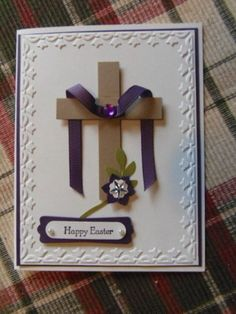 He is Risen by monkswife - Cards and Paper Crafts at Splitcoaststampers Easter cards carterie, pergamano et tableaux - Page 5 Diy Easter Cards, Handmade Easter Cards, Quilling, Holiday Cards, Christmas Cards, Easter Messages, Easter Cross, Easter Projects, Paper Cards