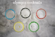 Olympic Cocktails - Cupcakes and Cashmere