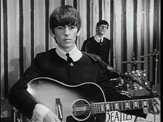 August 1968 - The Beatles recorded 14 takes of George Harrison's song 'While My Guitar Gently Weeps' at Abbey Road studios. This recording took the song from its early acoustic version into an. Good Music, My Music, Beatles One, Beatles Photos, Nostalgia, Love Me Do, George Harrison, The Fab Four, Nighty Night