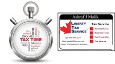 Time For Taxes - Maximize your Tax Refund! How to pay Less Taxes & Get Maximum Benefits from Government? Call us Today at905-337-9805 & 905-949-2274 for further details or Email at Canada@Libertytax.com