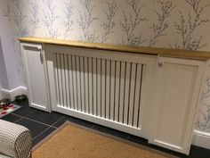 A personal favourite from my Etsy shop https://www.etsy.com/uk/listing/493465098/bespoke-radiator-cover-with-built-in