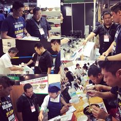 Keigo y Akimasa han descubierto lo último sobre ramen en la Expo de ramen de Tokio.  #Ramenkagura #Kuraya #Hanakura #Kaguraexpress