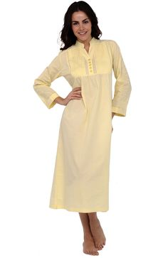 Del Rossa Women's Guinevere 100% Cotton Long Victorian Nightgown at Amazon Women's Clothing store: White Cotton Nightgown