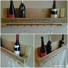 Porte bouteille artisanale en bois d 39 acacia acacia tables et cuisine - Etagere porte bouteille ...