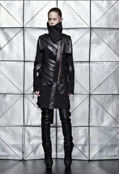 VALERY KOVALSKA FW'12...fierce in black leather and wool