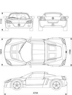 Opel Speedster blueprint