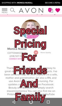 Save $ with Friends and Family Pricing – Beauty and Bluejeans Buy Makeup Online, Honor Society, Work From Home Opportunities, Avon, Did You Know, Opportunity, How To Become, Skin Care, Friends