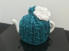 3 Tone Turquoise Blue Green Handmade Knitted by LucysPatternBox