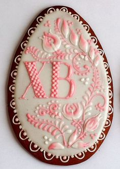 Easter egg with flowers - just omit or change the letters