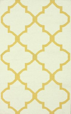 Tuscan Trellis I Flatwoven Gold Rug