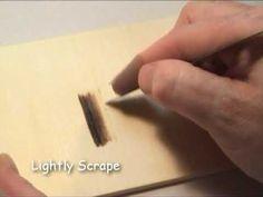 Erasing Woodburning or Pyrography Mistakes