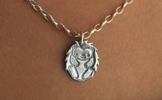 HEDGIE THE HEDGEHOGFine Silvernecklace by KLMcDesigns on Etsy, $39.00
