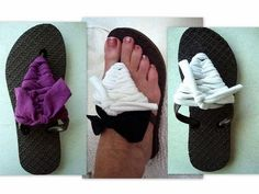 BRAIDED TOPS on flip flops, how to diy, summer sandals, recycle t-shirt, - YouTube