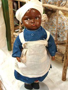 "Effanbee Composition & Cloth Aunt Dinah Doll - 12"" ca.1915 - $ 225"