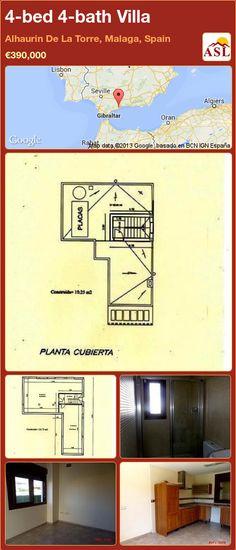 4-bed 4-bath Villa in Alhaurin De La Torre, Malaga, Spain ►€390,000 #PropertyForSaleInSpain