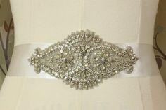 Stunning DeBeers Rhinestone Silver Bridal by chrismartincreations
