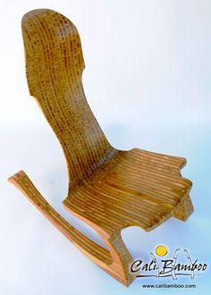 bamboo art rocking chair