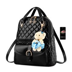 Imymax Plaid Faux Leather Girl Backpack Shoulder Bag Tote Handbag * Visit the image link more details. (This is an Amazon Affiliate link and I receive a commission for the sales)