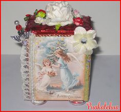 Christmas Angel Chunky ATC created with images by Swing Shift Designs