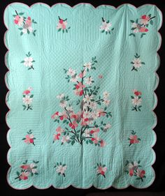 Details about Antique 1930 Pink Embroidered Quilt Antique 1930 Dogwood Quilt Old Quilts, Antique Quilts, Vintage Quilts, Scrappy Quilts, Quilting Projects, Quilting Designs, Quilting Tips, Applique Wall Hanging, Colonial
