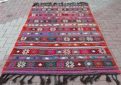 Anatolian Turkish ( Dursunbey ) Kilim Rug Carpet 55,1''x94,5'' (140cm x 240cm)