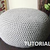 XL Crochet Knitted pouf / Floor Cushion - via @Craftsy