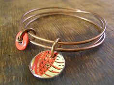 Recycled tin bracelet.