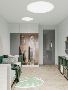 Gray Space on Behance Kids Bedroom Designs, Kids Room Design, Home Room Design, Apartment Interior, Room Interior, Interior Design, Home Decor Bedroom, Living Room Decor, My New Room