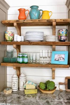 Cafe Shelf Tutorial And GIVEAWAY | Best Shelves, Large Frames And Tall  Vases Ideas