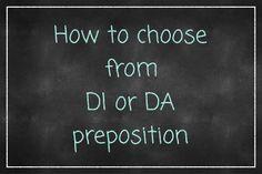 choose di da preposition italian preposizioni italiane preposition preposizione lingua italiana scegliere