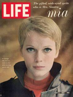 Life Magazine Cover Copyright 1967 Mia Farrow - Mad Men Art: The Vintage Advertisement Art Collection Sharon Tate, Life Magazine, Magazine Stand, Magazine Rack, Mia Farrow Pixie, Rosemary's Baby, Safari, Life Cover, Hot Hair Styles