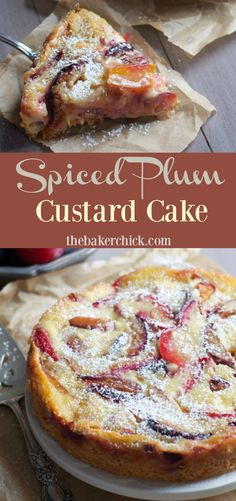 Spiced Plum Custard Cake