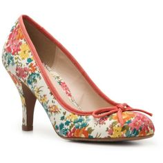 "Gorgeous floral ""Lifetime"" pump from CL by Laundry"