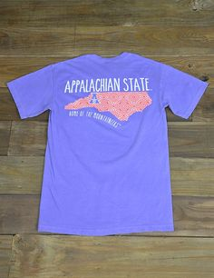 Show your pride for your home and school in this new Appalachian State Comfort Color t-shirt! This tee is perfect for all of you App State ladies! Go Mountaineers!